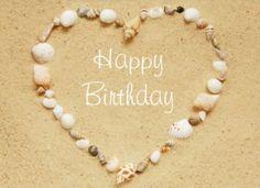 HBD Seashell Heart Happy Birthday Hearts Wishes Greetings Birthdays