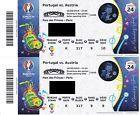 #Ticket  2 Tickets Uefa Fußball EM Portugal-Austria Paris 18.06.2016 #Ostereich