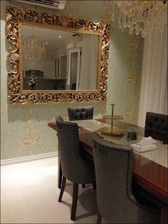 Mirror frame crafted