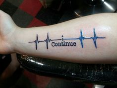 Semi colon heartbeat tattoo