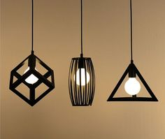 cage lights - hanging lampshades