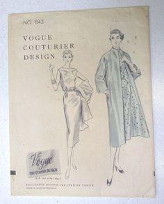 VCD 843 1Pc Dress & Coat 1955 Sz14/32/35 nsld 9.99+3.03 0bds 2/26/17