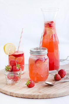 Erfrischende Sommer Erdbeer-Melonen Limonade *** easy peasy DIY strawberry melon lemonade