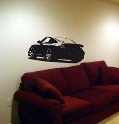 Wall Vinyl Sticker Decals Art Mural  Car Porsche 911 GT3 Turbo 06. $29.99, via Etsy.