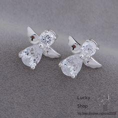 AE653 Silver plated earrings , silver fashion jewelry , angel /bwpaknwa eggamxna