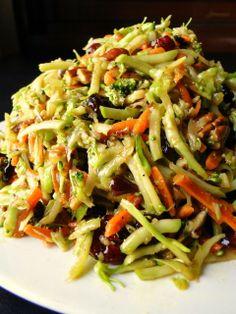 Vegan Broccoli Cranberry Salad.