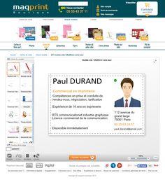Creez En Quelques Clics Votre Carte De Visite Mini CV Sur La Boutique Maqprint