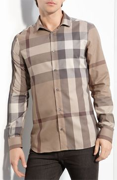Burberry London Trim Fit Check Shirt available at Nordstrom