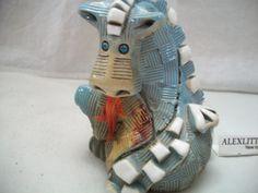 blue dragon figurine by Artesania Rinconada