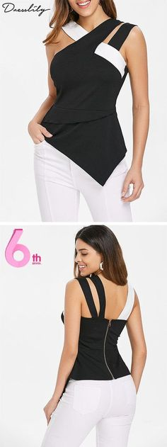 UP TO OFF,Dresslily anniversary!Shop Dresslily Women Tank Tops on Browse all products, from shoes to clothing and accessories in this shipping worldwide! Tank Top Outfits, Casual Outfits, Skirt Outfits, Black Outfits, Dress Casual, Sewing Clothes Women, Clothes For Women, Woman Clothing, Men's Clothing