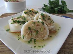 Calamari ripieni, ricetta senza uova. http://blog.giallozafferano.it/greenfoodandcake/calamari-ripieni/
