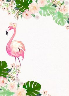 Shop Flamingo Birthday Invitation created by Lucky_Plum_Studio. Flamingo Party, Flamingo Baby Shower, Flamingo Birthday, Dinosaur Birthday Party, Flamingo Craft, Blue Birthday, Farm Birthday, Birthday Parties, Birthday Background Wallpaper