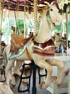 Congress Park Carousel Illions 2nd Row Jumper. Love the winged saddle details!