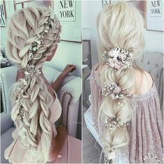 Hair style girl Step By Step for wedding Prom Hairstyles For Long Hair, Wedding Hairstyles For Long Hair, Bride Hairstyles, Down Hairstyles, Trendy Hairstyles, Gorgeous Hairstyles, Curly Hair Styles, Natural Hair Styles, Pixie Bob