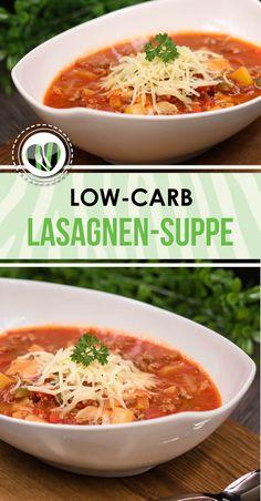 Die Lasagnen-Suppe ist lowcarb, glutenfrei und super lecker.