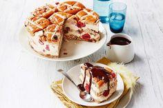 This Easter sweet treat combines three favourites: hot cross buns, tiramisu AND cake!