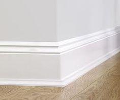white skirting board