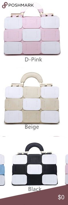 Coming soon - Two tone structured handbag Designed For the Modern day chic Bags Satchels