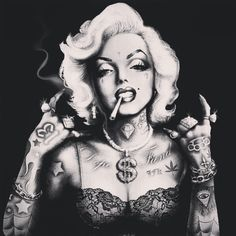 Marilyn monroe . Tattoos i love her.