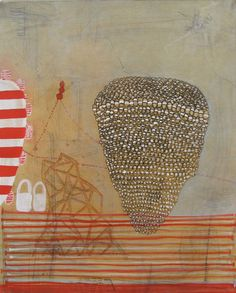 Sarah Amos, Lunette 12, Collagraph on Japanese paper, 2013 Small Works