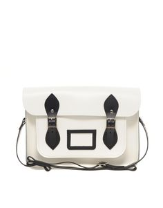 "Cambridge Satchel Company 13"" Exclusive to Asos Contrast Trim Satchel"
