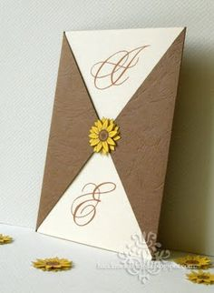 DIY Sunflower Wedding Invitations - Just add turquoise and these are PERFECT :D