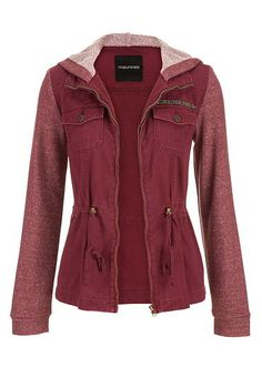 jacket with french terry knit hood and sleeves (original price, $49) available at #Maurices