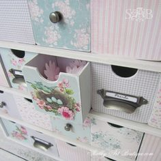 DIY:: Shabby Chic Creative Storage This is pretty!  Not at all my style, but could easily be adapted.  Wonder where I could find a similar unit, and if I have space for it.