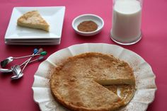 South African Melktert – Milk Tart - The tart comes from a traditional south african recipe passed down from my grandma. Its a decadent dish that is creamy with a hint of cinnamon sugar on top. South African Desserts, South African Recipes, Ethnic Recipes, Melktert, Middle Eastern Desserts, Cake Recipes, Dessert Recipes, Cooking Courses, Milktart Recipe