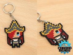 Miss Fortune - League of Legends - LoL - Keychain - customizable - Yıldız Fırsat Perler Beads, Perler Bead Art, Fuse Beads, Pony Bead Patterns, Pearler Bead Patterns, Pixel Art, League Of Legends, Hamma Beads Ideas, Lol