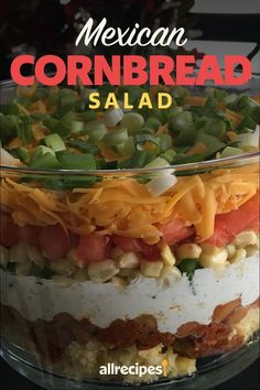 """Mexican Cornbread Salad 