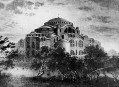 The Holy Temple of Agia Sofia was built during the period when emperor of the Byzantine Empire was Justinian the Great. Church Outreach, Byzantine Architecture, Byzantine Art, Hagia Sophia, Islamic Art Calligraphy, Religious Icons, Christian Church, Thessaloniki, Dark Ages