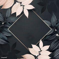 Phone Wallpaper Images, Apple Watch Wallpaper, Framed Wallpaper, Flower Wallpaper, Wallpaper Backgrounds, Black Background Wallpaper, Leaf Background, Background Patterns, Cadre Design