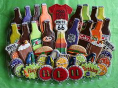 How adorable are these soda bottle cookies!!  7 up, Pepsi, root beer, mountain dew!  Love 'em!