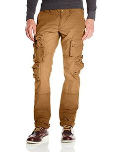 PRPS Goods  Co Mens Utility Twill Cargo Pant Tan 40 >>> Check out this great product.