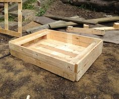 Home Made Hen Dust Bath From Pallets