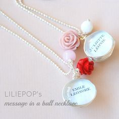 Image of Message in a Ball - custom name necklace