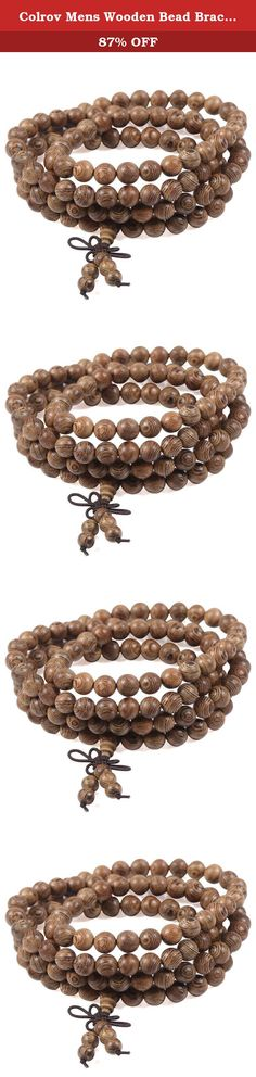 Colrov Mens Wooden Bead Bracelets - Link Wrist Necklace Chain Tibetan Buddhist Buddha Knot Elastic Style Wood. COLROV - Attentively to adorn dribs and drabs of your life. COLROV main sell high quality stainless steel,tungsten,natural stone and leather jewelry at affordable price. Best shopping experience is our main goal that we try our best to arrive all the time. COLROV - Shopping Tips 1.Products we sell are all in new condition and finished rigid inspection. 2.If you have any...