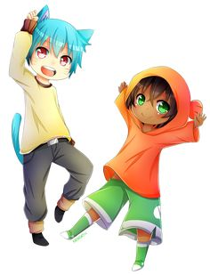 Gumball and Darwin (ANIME VER) by Syoa-Kun.deviantart.com on @DeviantArt