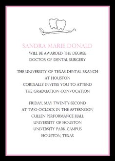Celebrate the dental graduate in your life with these personalized graduation party invitations. Buy dental school graduation invitations online today at Invitation Box.