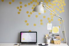 DIY Gold Confetti Wall | Lovely Indeed