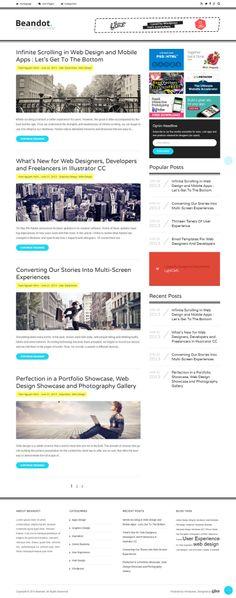 Beandot - clean #wordpress #blog #theme with a one column layout.