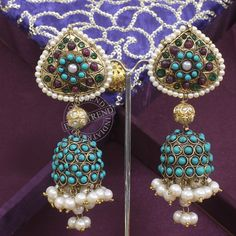 The Kumud Earrings by Indiatrend. Shop Now at WWW.INDIATRENDSHOP.COM