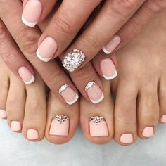 Incredible Toe Nail Designs for Your Perfect Feet ★ See more: https://naildesignsjournal.com/chic-toe-nail-designs/ #nails