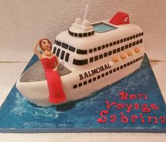 Cruise ship novelty cake by Baking Angel