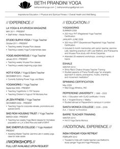 unforgettable yoga instructor resume examples to stand out - Yoga Instructor Resume