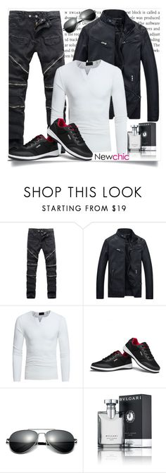 """""""Newchic"""" by adelisa56 ❤ liked on Polyvore featuring Bulgari, men's fashion and menswear"""