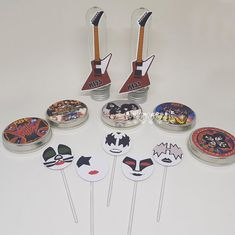 flavoli Papelaria Personalizada: Papelaria de festa - Kiss Tableware, Personalized Stationery, Party, Craft, Rock Bands, Tin Cans, Appliques, Dinnerware, Tablewares