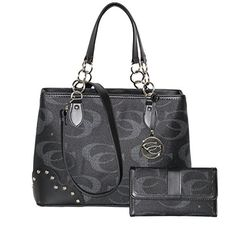 Signature - Concealed Carry Pewter Shoulder Purse w/ Matching Wallet by Cleto (Black) Cleto http://www.amazon.com/dp/B00T2HHGTU/ref=cm_sw_r_pi_dp_yCoowb0ATQYM3