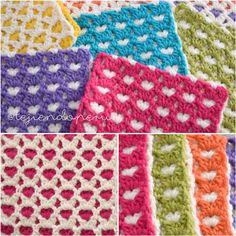 Beginning Crochet Crochet Reversible heart stitch: endless love! Crochet Blanket Tutorial, Beginner Crochet Tutorial, Beginner Crochet Projects, Afghan Crochet Patterns, Crochet Patterns For Beginners, Baby Blanket Crochet, Crochet Stitches, Crochet Tutorials, Hat Patterns